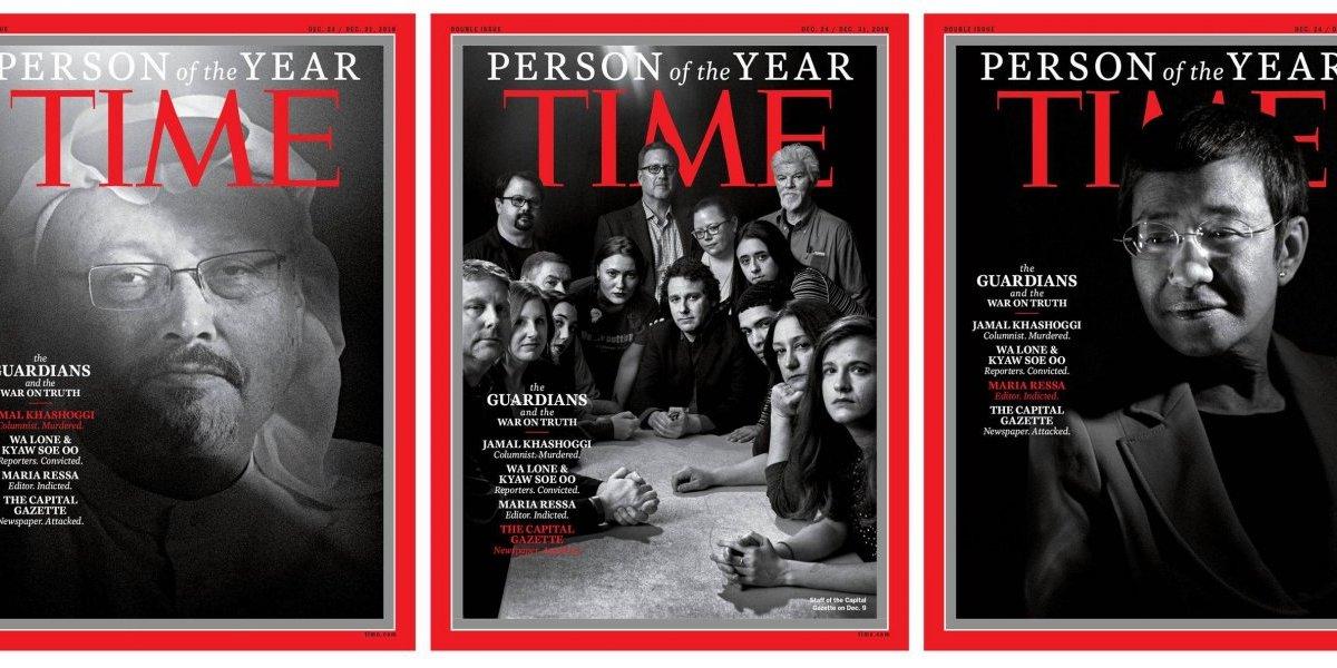 """Periodistas perseguidos son la """"persona del año"""" 2018 de la revista TIME"""