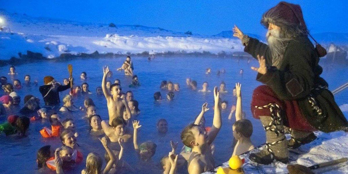 Gnomos navideños anuncian la festividad en Islandia