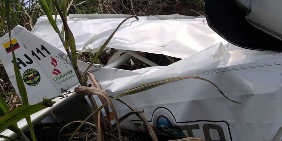 Accidente de una avioneta en Antioquia deja dos personas muertas