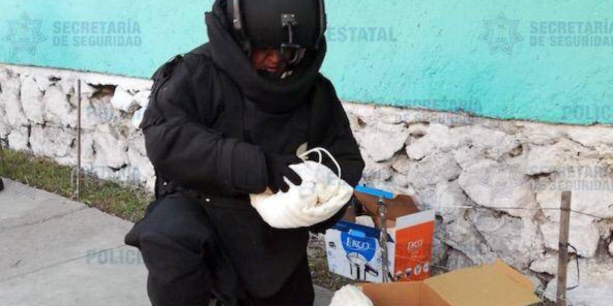 Desactivan dos bombas caseras en tienda de autoservicio
