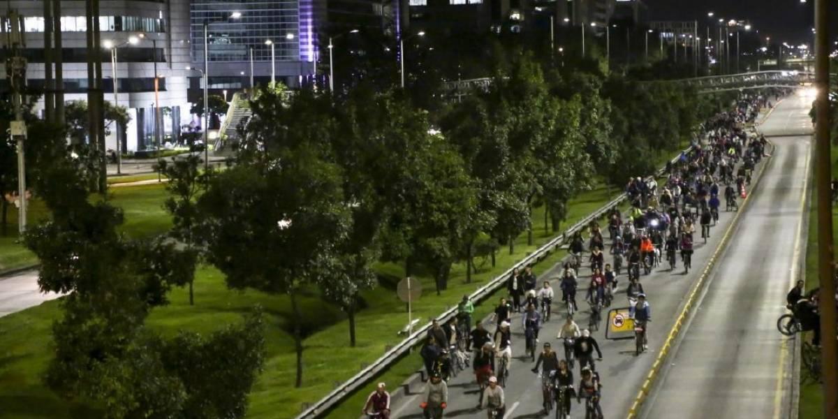 Vías habilitadas para la ciclovía nocturna de este jueves en Bogotá