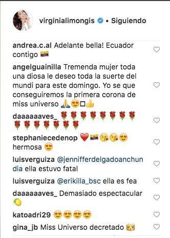 Comentarios del vestido de Virginia Limongi Captura de pantalla