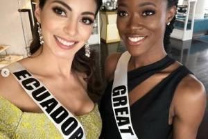 Virginia Limongi tras su entrevista con el jurado del Miss Universo