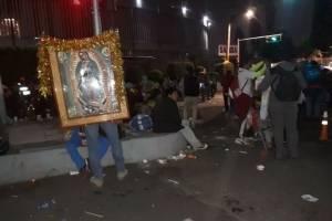 Peregrinos en la Basílica de Guadalupe