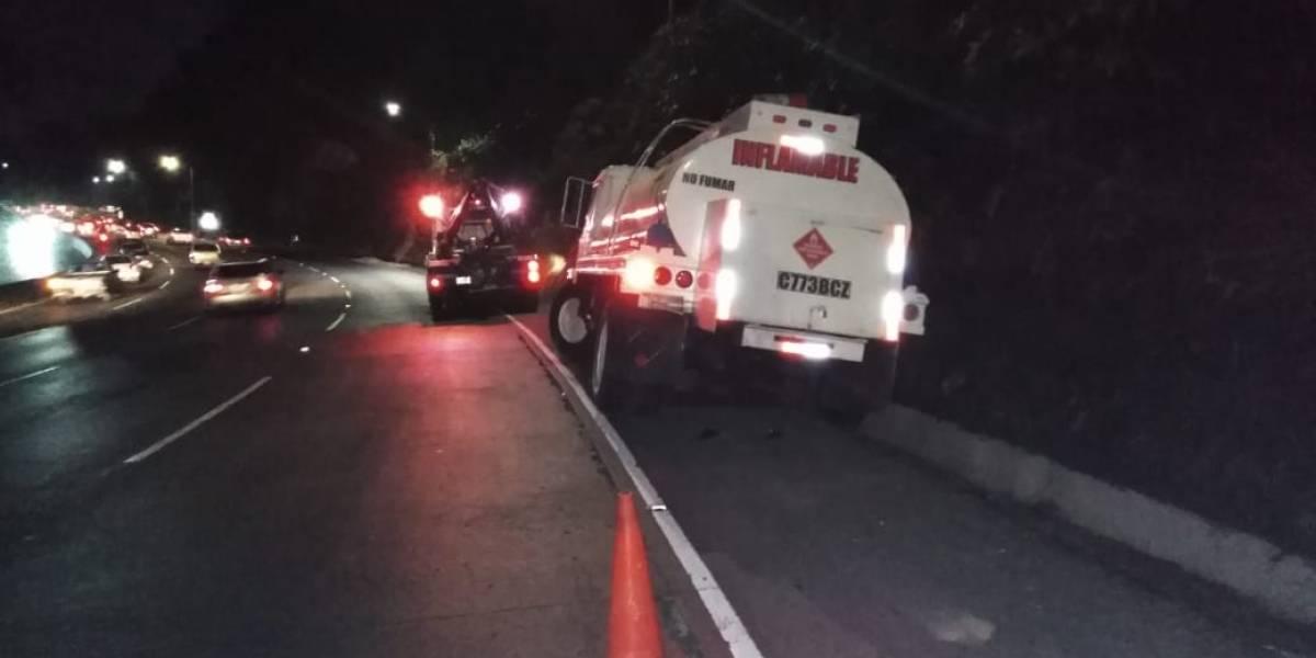 Reportan incidentes viales en Mixco, Villa Nueva y ruta a Las Verapaces