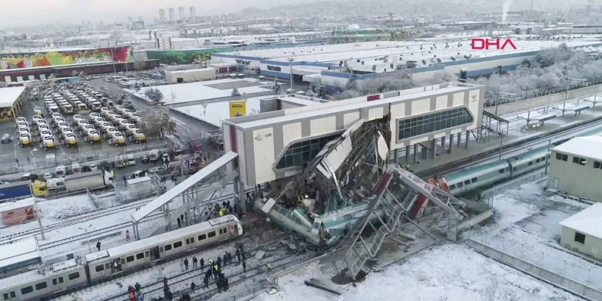 Choque de tren en Ankara deja siete muertos