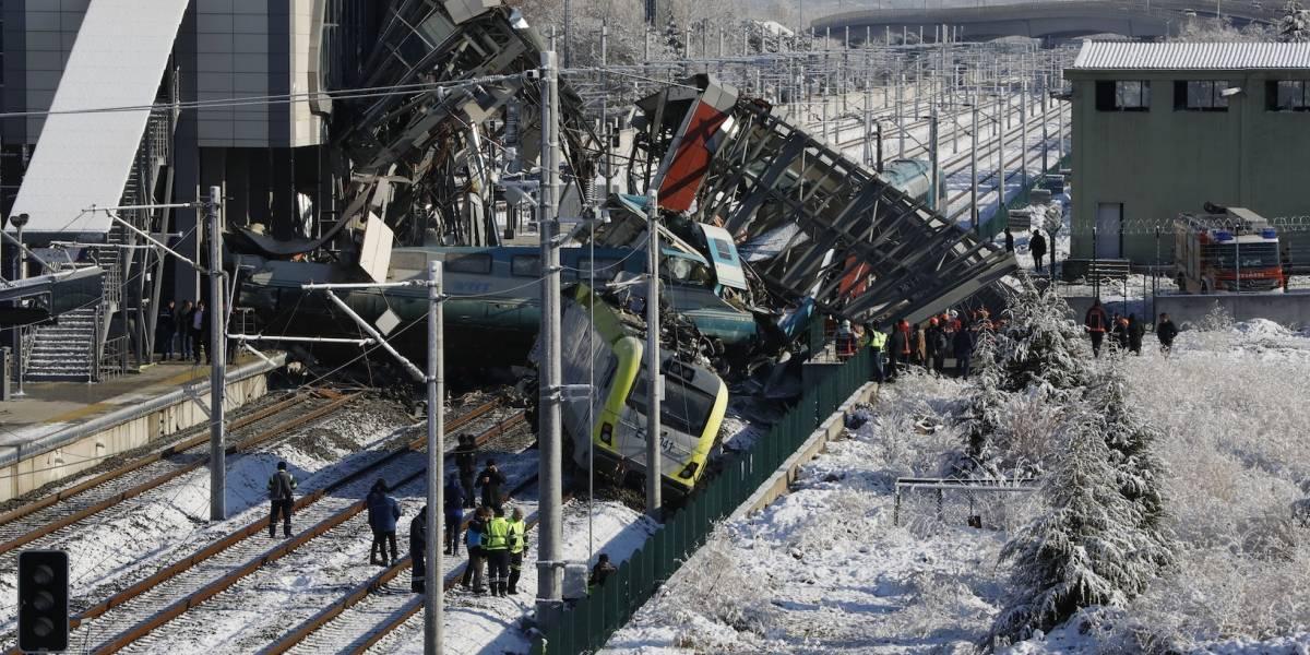 Accidente de tren deja 7 muertos y 46 heridos en Turquía
