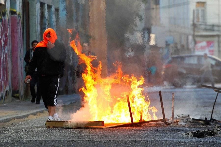 Protestas en Valparaíso