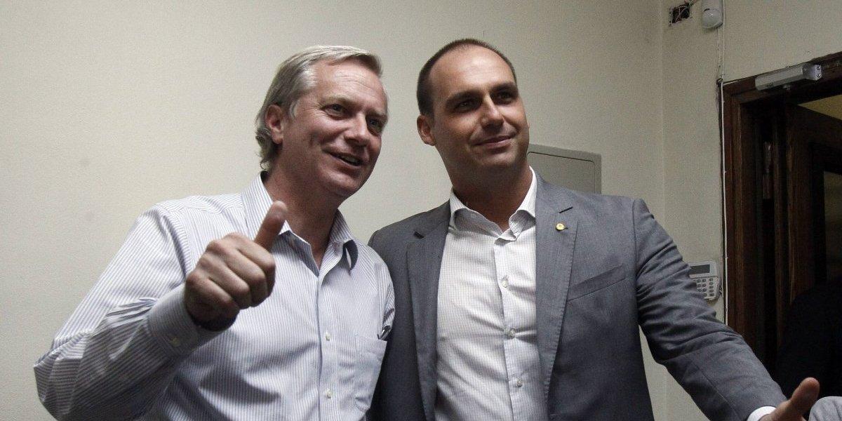 Así fue la reunión entre José Antonio Kast y el hijo de Jair Bolsonaro