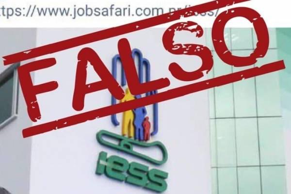 IESS desmiente ofertas laborales para trabajar en la institución que circulan en redes sociales