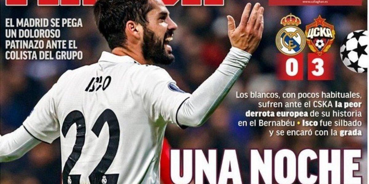 """""""Ridículo histórico"""": En España no tuvieron piedad con la caída del Real Madrid en Champions League"""
