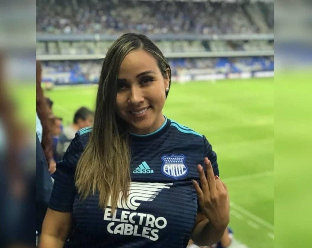 Lorena Collantes en el estadio George Capwell