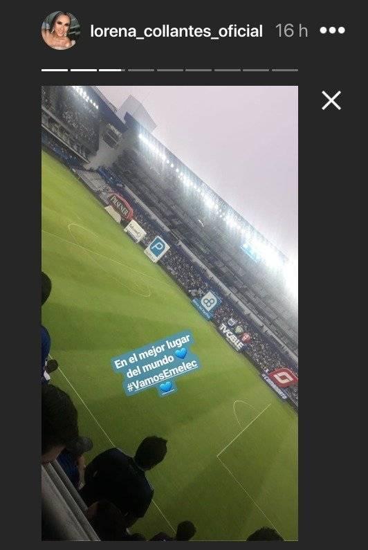 Lorena Collantes en el estadio George Capwell Instagram Lorena Collantes