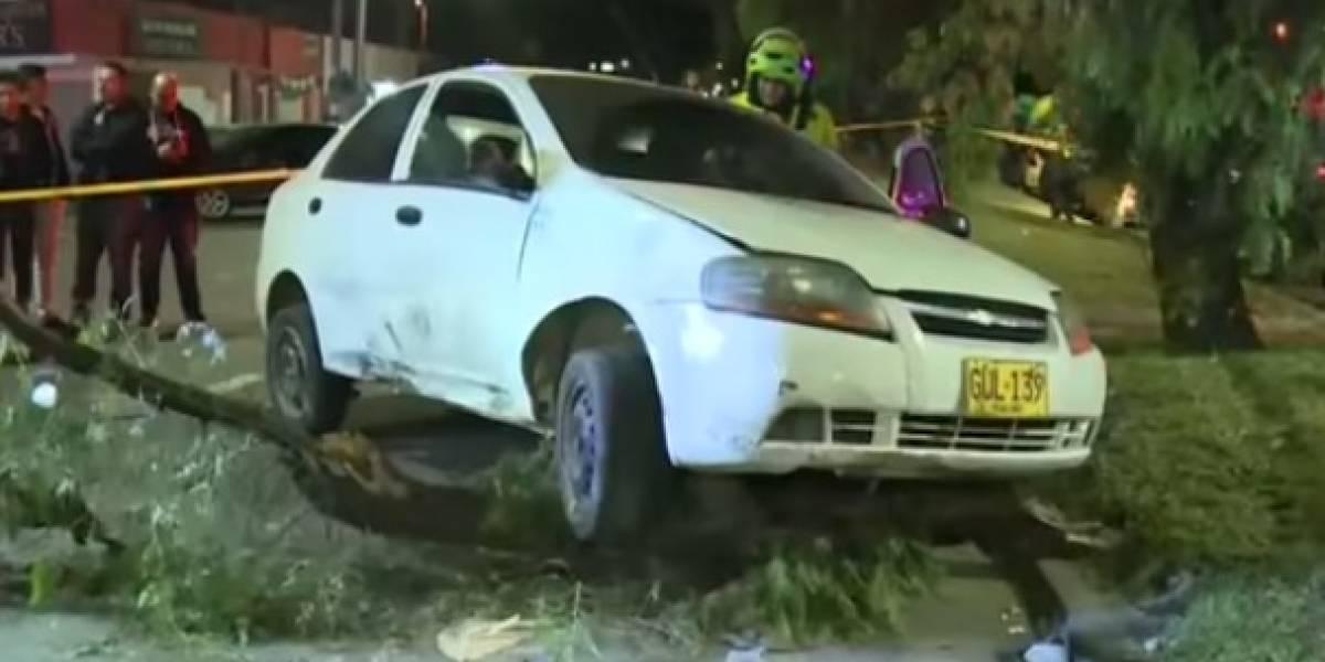 Conductor estrelló un puesto de tintos en el sur de Bogotá