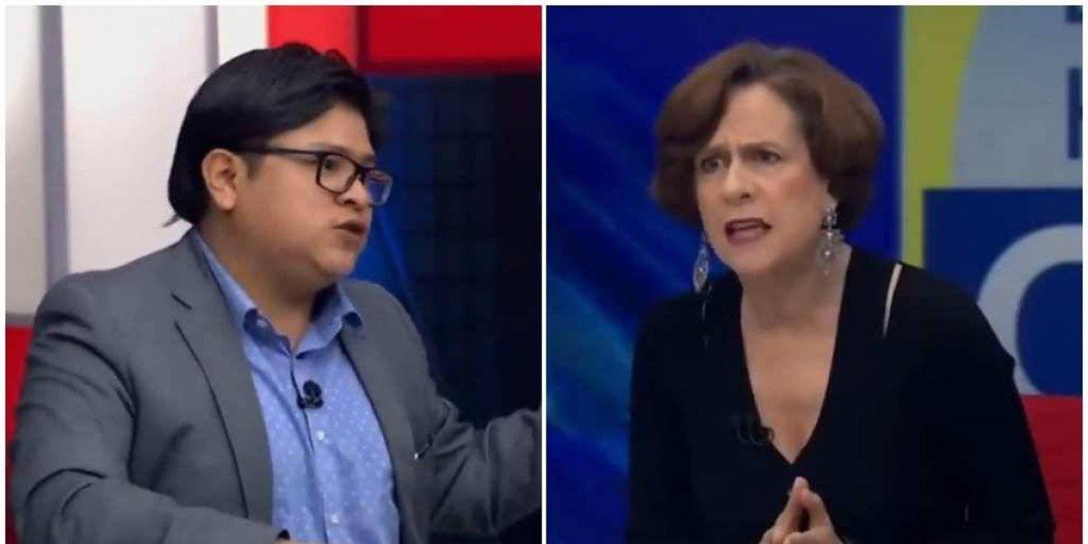 """Denise Dresser y Gibrán Ramírez protagonizan """"pelea"""" en televisión"""