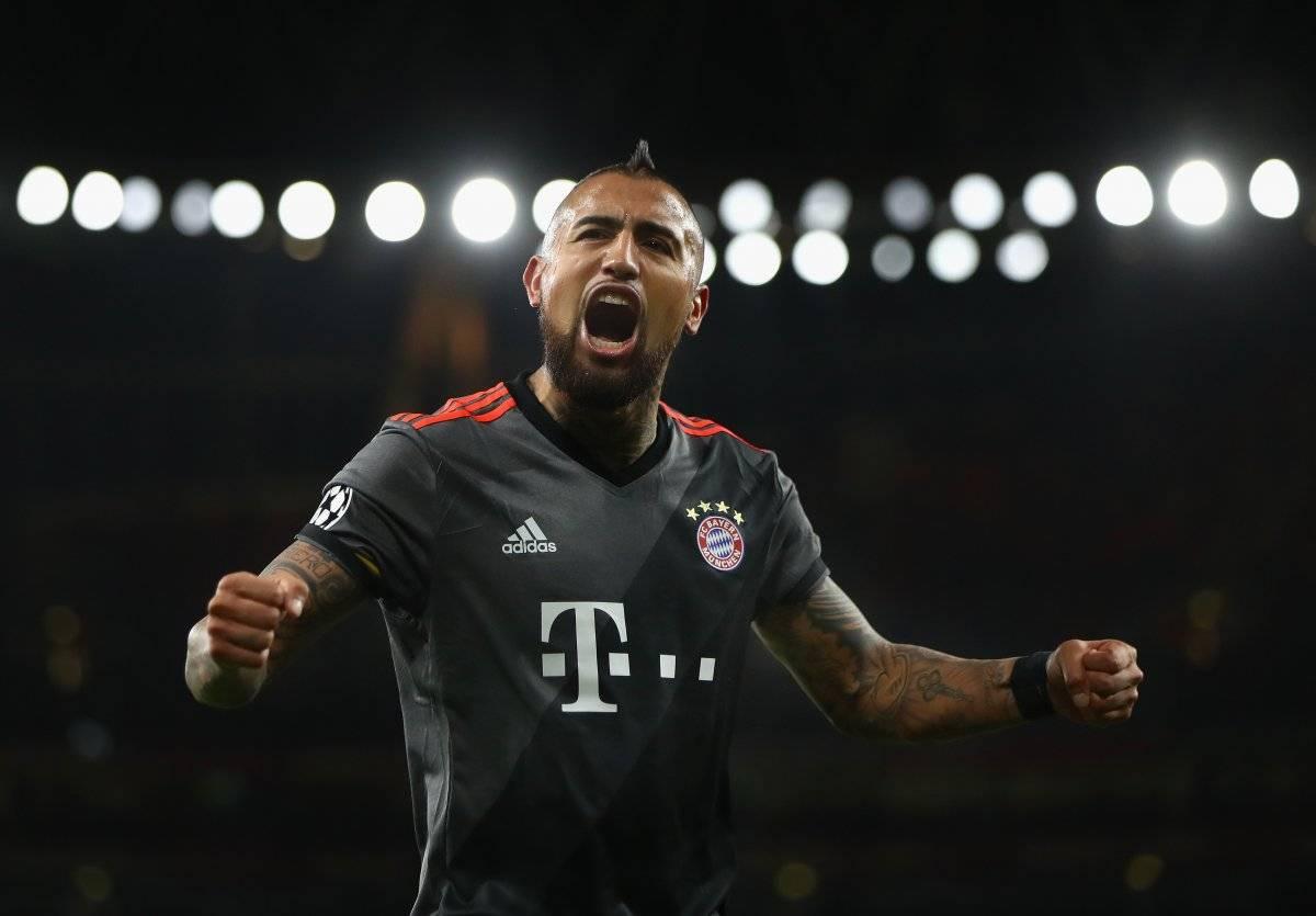 Vidal es el máximo goleador chileno en Champions / imagen: Getty Images