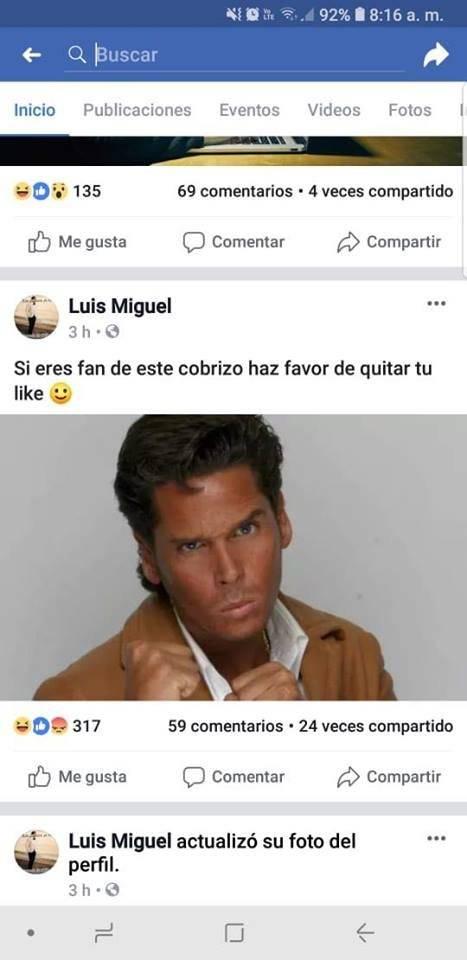 Luis Miguel hackeo