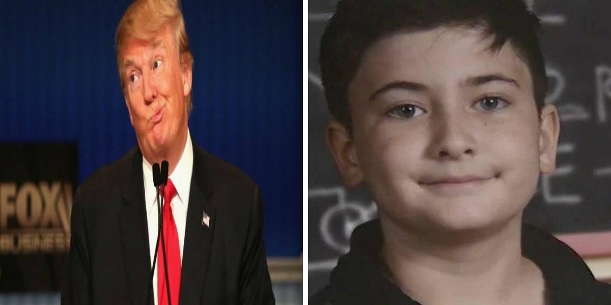 Niño de 11 años era víctima de bullying por llevar el apellido Trump