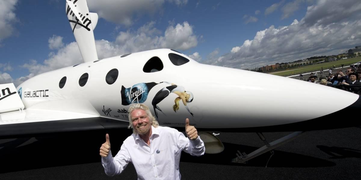 El avión supersónico de Virgin Galactic logró llegar al espacio