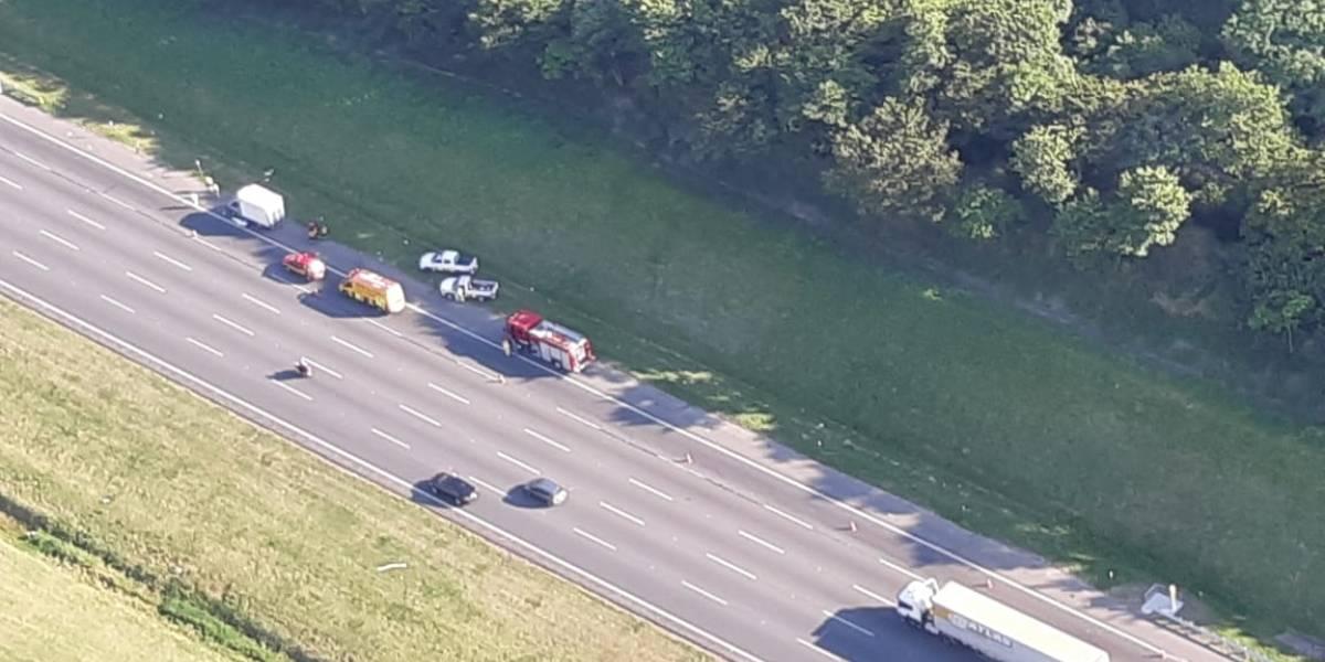 Homem morre após ser atropelado por vários carros na rodovia dos Bandeirantes
