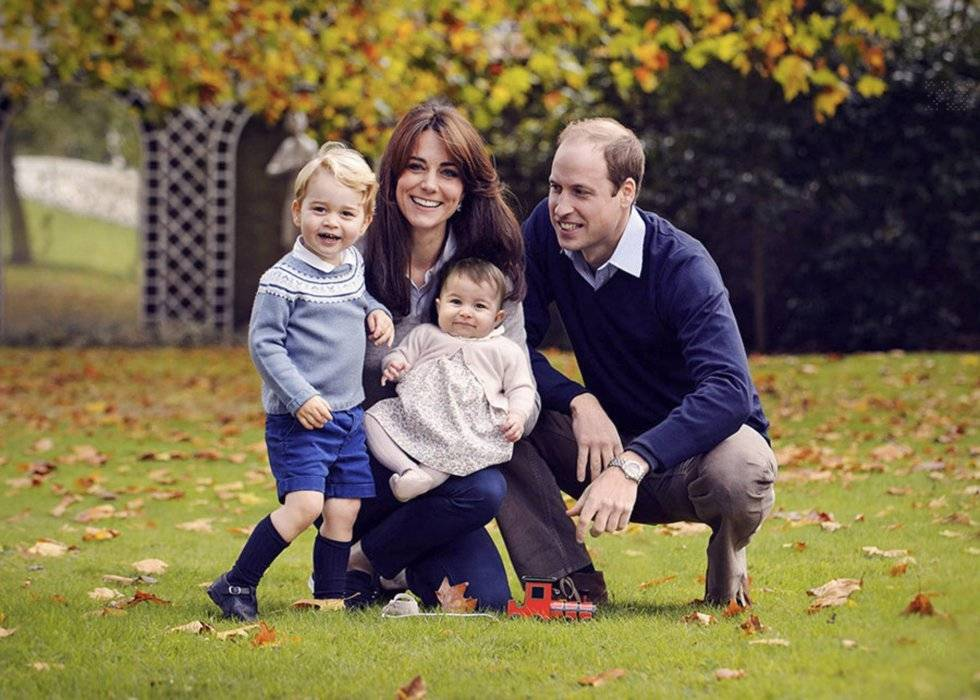 Prince William, Kate Middleton y sus hijos