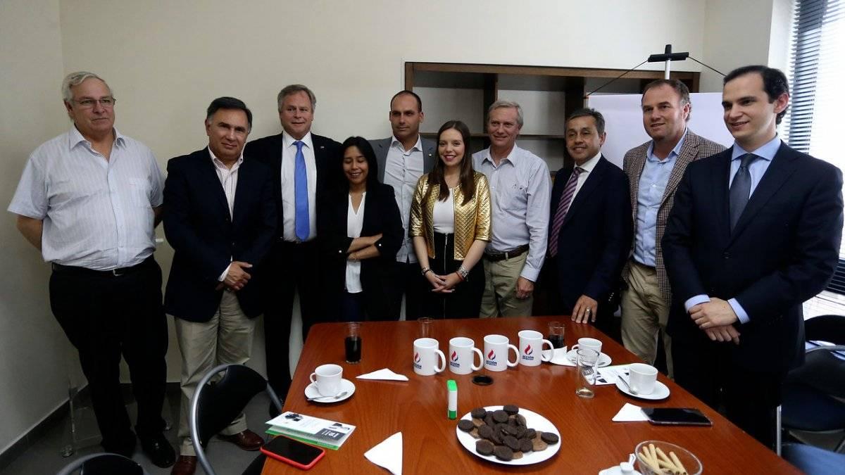 Reunión de Bolsonaro con parlamentarios chilenos