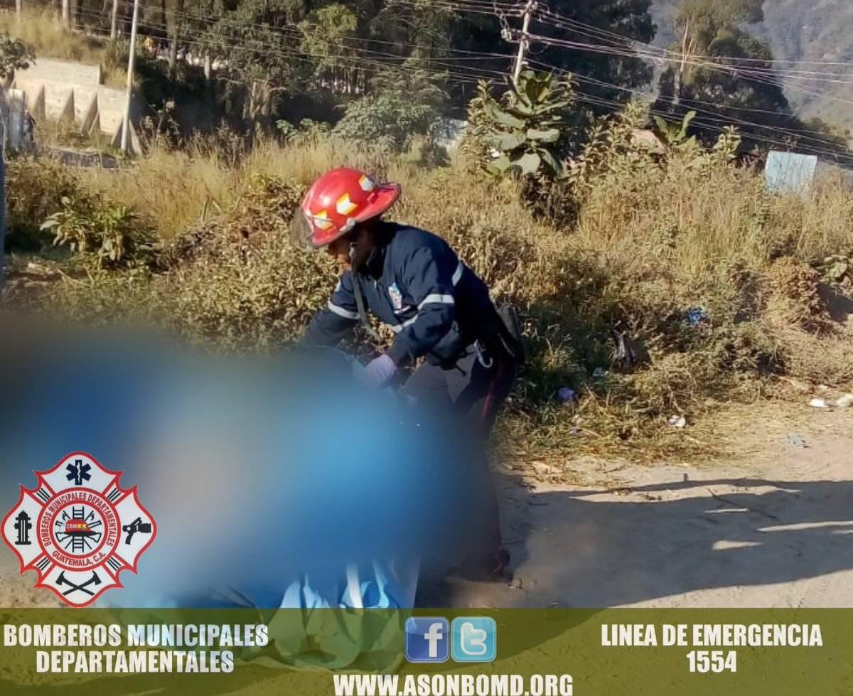 cadáver envuelto en nailon en Villa Nueva