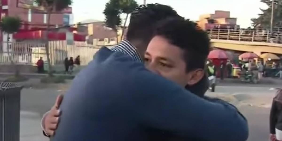 Hijo de mujer que murió en TransMilenio se encontró con su 'ángel'