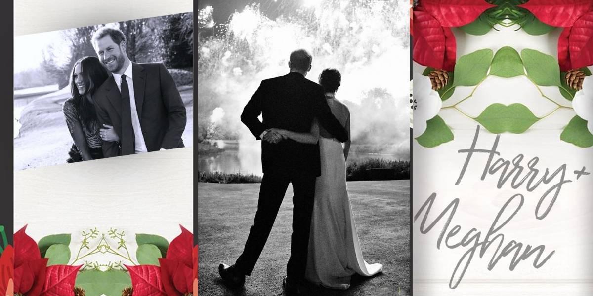 La tarjeta navideña de Meghan Markle y el Príncipe Harry fue tomada el día de su boda