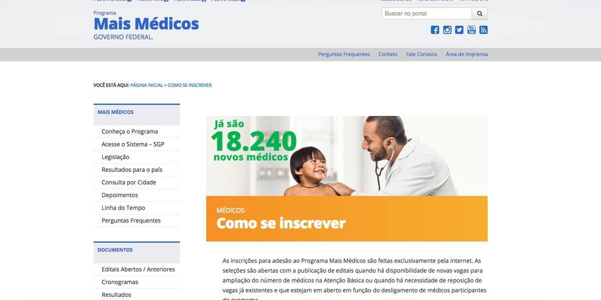 Mais Médicos: inscrição para formados no exterior será dias13 e 14