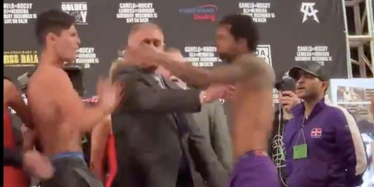 Boxeadores tiran a edecán en Nueva York