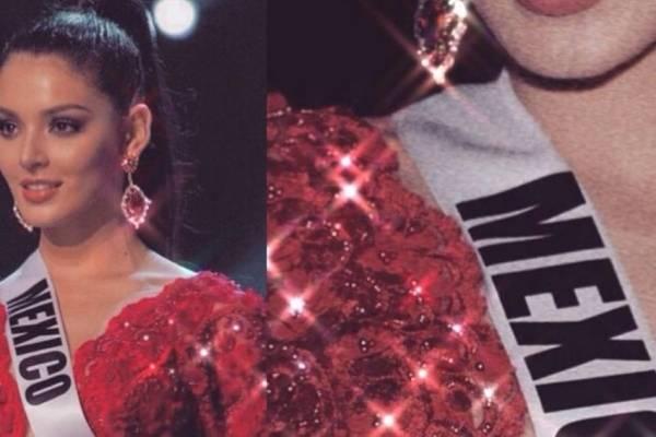 Miss México El Hermoso Vestido Rojo Del Que Todos Están
