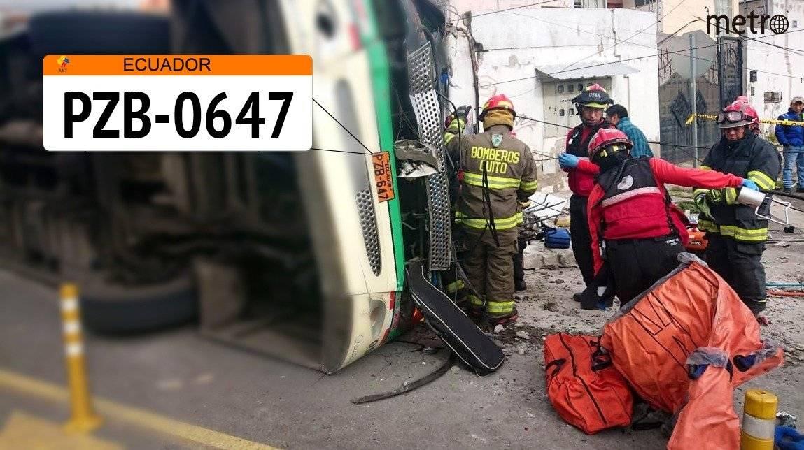 BUS accidentado en Conocoto