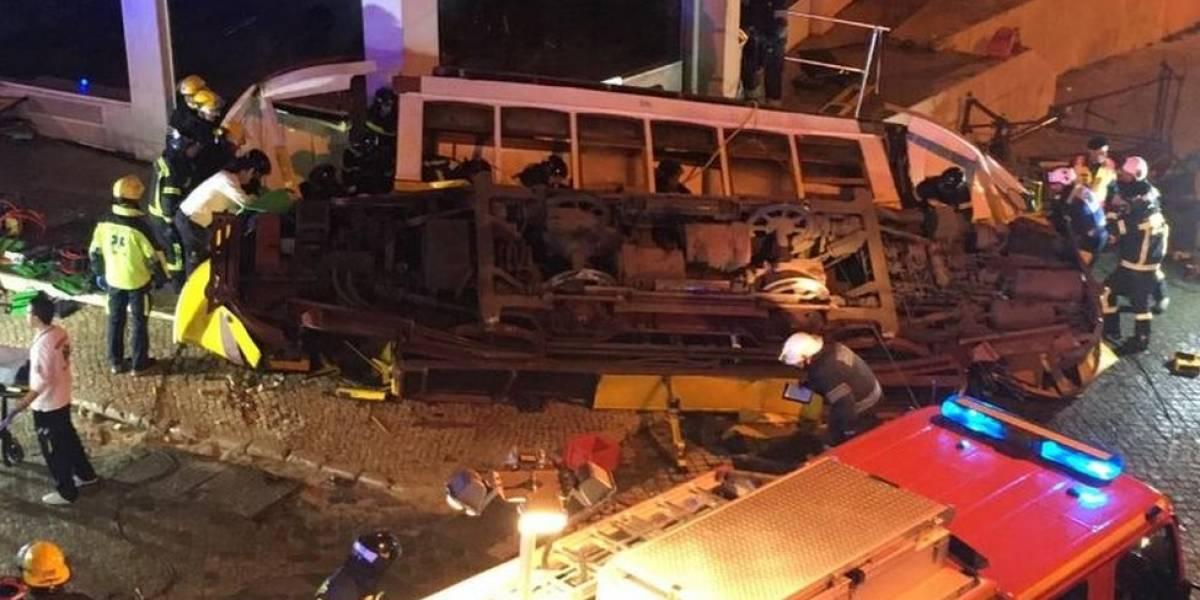 Acidente com bonde deixa 28 feridos em Lisboa