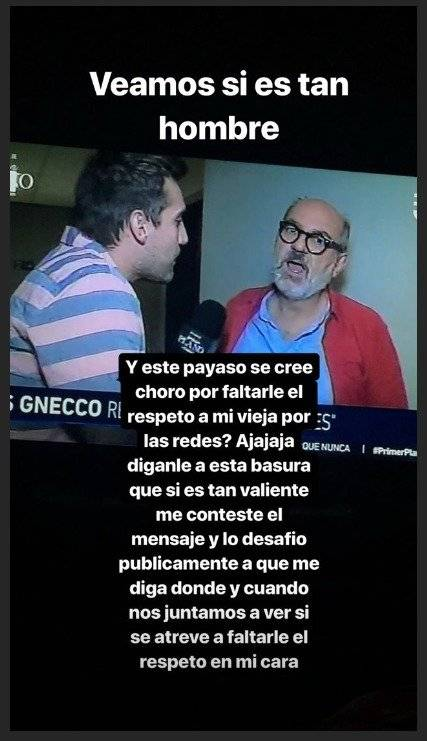 Nano calderón contra Luis Gnecco
