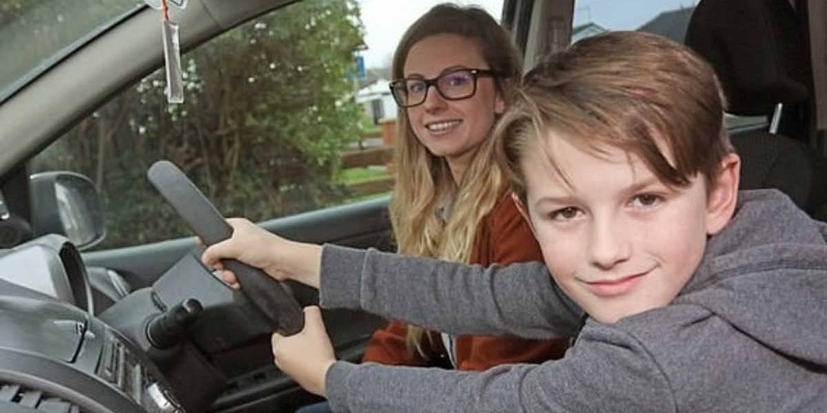 Mãe tem convulsão ao volante e garoto de 8 anos evita tragédia