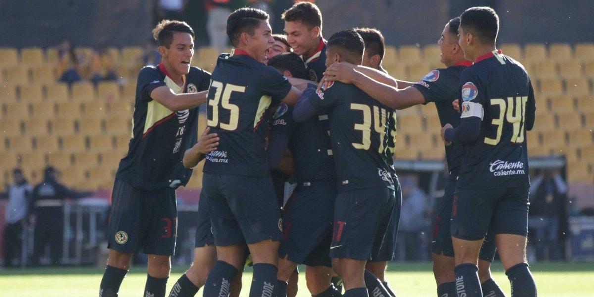 América le gana la partida a Tigres en categoría Sub 17