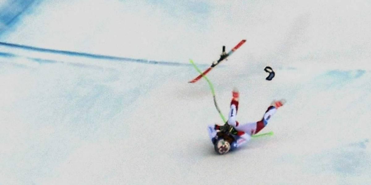 VIDEO: Esquiador sufre impactante caída y es evacuado en helicóptero
