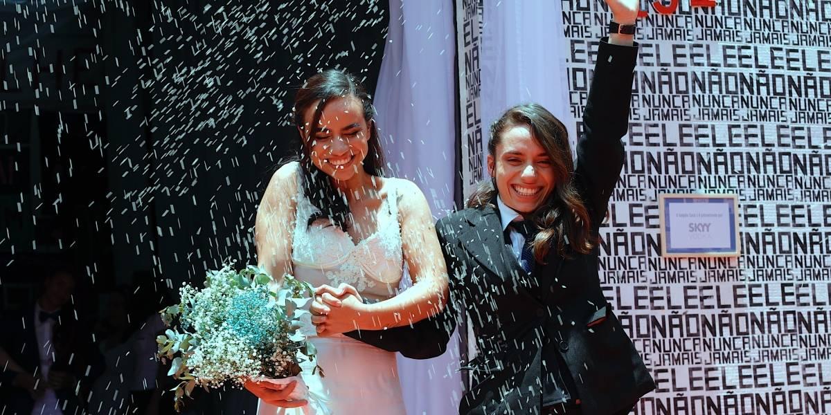 FOTOS: 40 casais LGBT se casam em cerimônia coletiva
