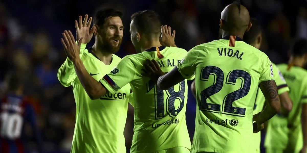 El Barça golea al Levante con hat-trick de Messi
