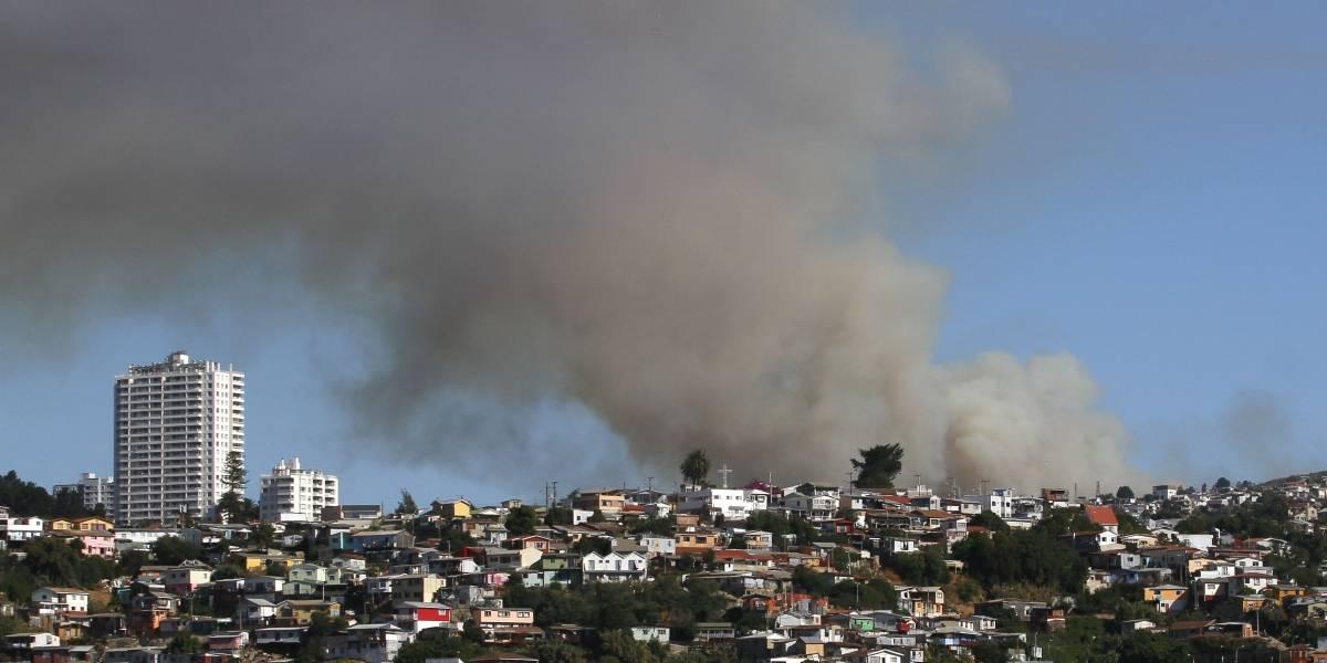 Alerta roja en Valparaíso: autoridades mantienen alarma por incendio forestal en Loma Negra