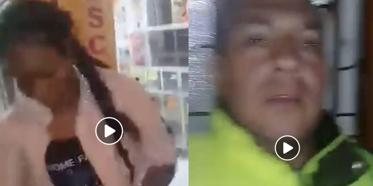 Video: Indignación por policía que saca del pelo a mujer de un TransMilenio