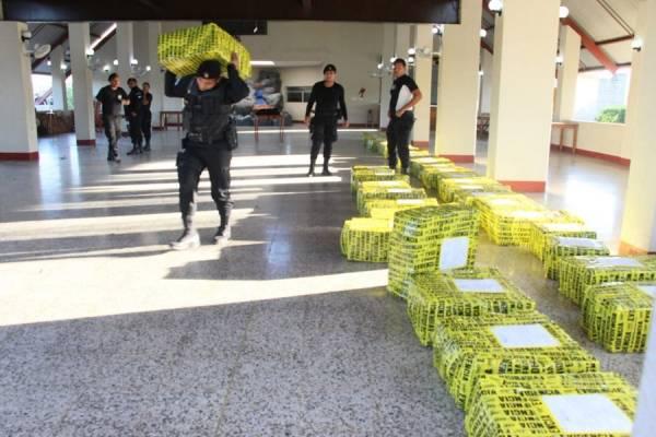 Cocaína incautada en el Pacífico