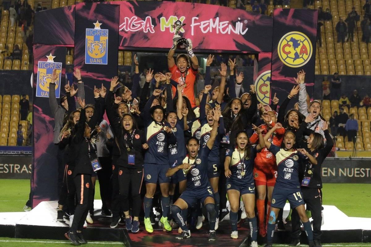 Campeón: América se coronó por primera vez en la Liga MX Femenil, en la Final disputada en el Volcán, en la instancia de penales |ISRAEL SALAZAR