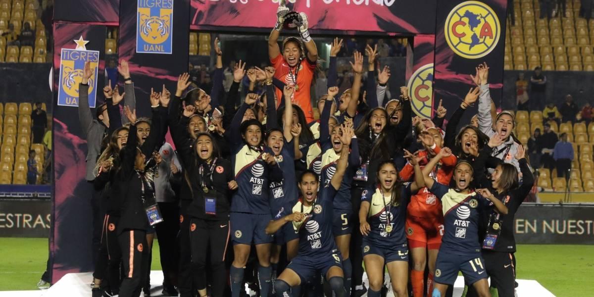 América se corona en la Liga MX Femenil venciendo a Tigres