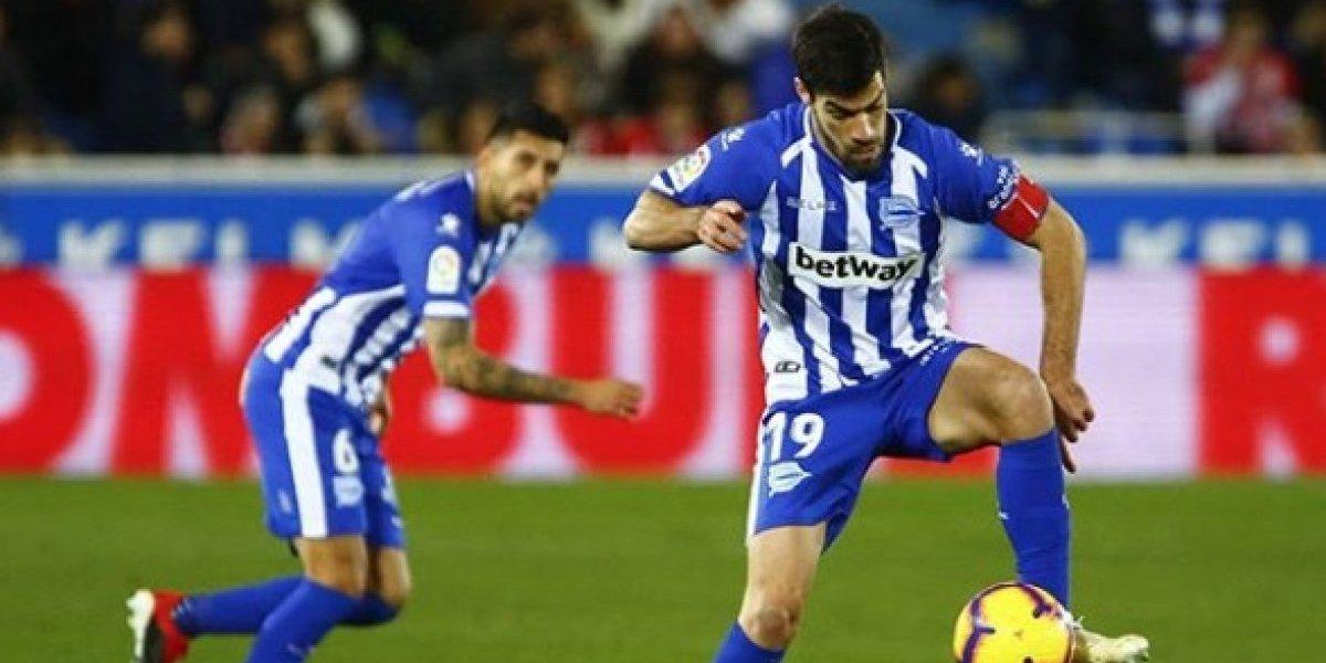 """Maripán jugó todo el partido en empate del Alavés que sigue en """"zona"""" Europa League en la Liga española"""