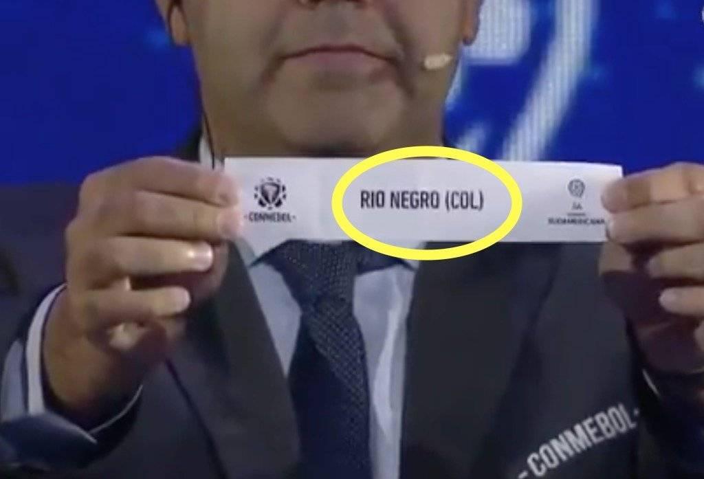 1. Error de Conmebol con Rionegro