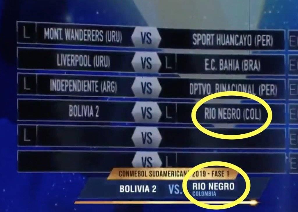 2. Error de Conmebol con Rionegro