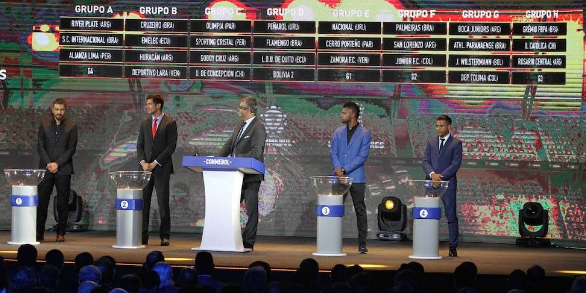 Quedan definidos grupos de la Copa Libertadores 2019