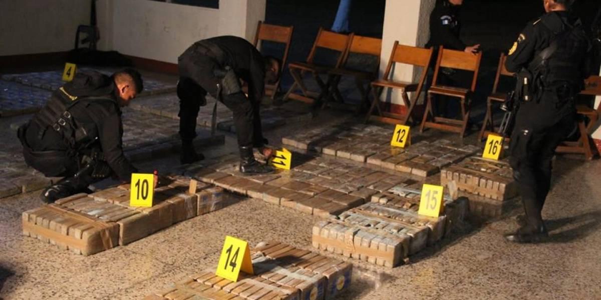 Decomisan droga valorada en Q548 millones en el Pacífico guatemalteco